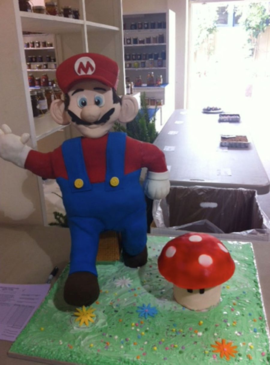 How To Make A Super Mario Cake Or Any Other Standing