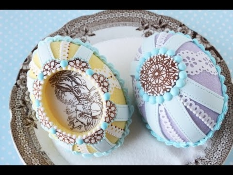 How to Make Cast Sugar Easter Eggs with Fondant Appliqu s