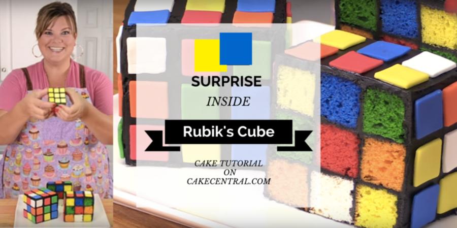 surprise inside rubik s cube cake cakecentral com