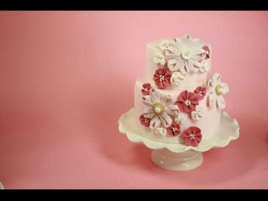 Sugar Ribbon Flower Cake Cakecentral Com