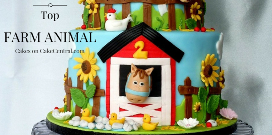 Top Farm Animal Cakes CakeCentralcom