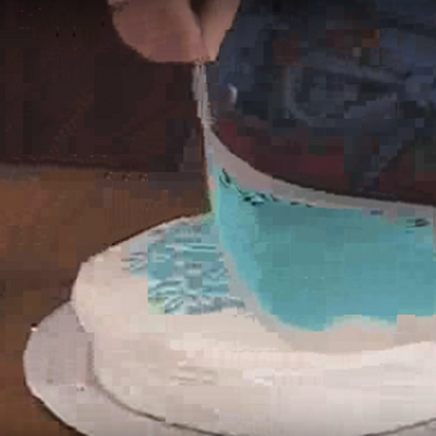 How to Stencil on Buttercream on Cake Central