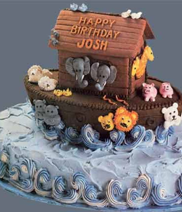 Noah's Ark Buttercream Baby Shower Cake