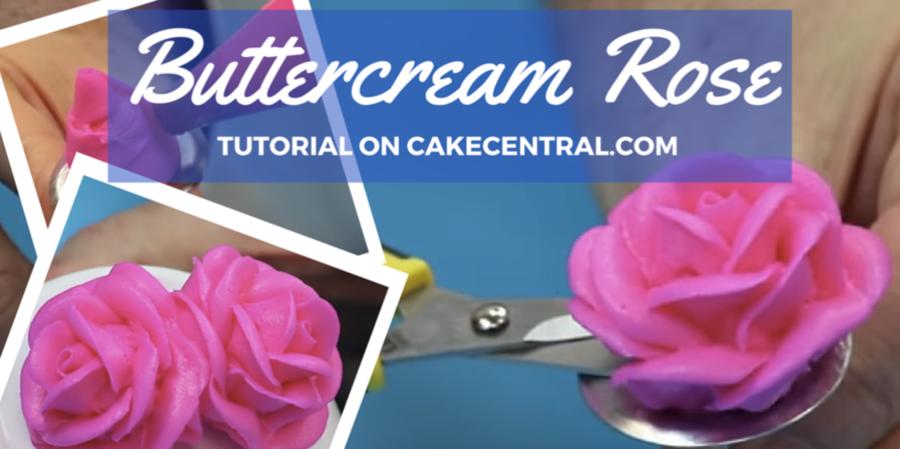 Cake Decorating Rose Nail : How to Make A Buttercream Rose - CakeCentral.com