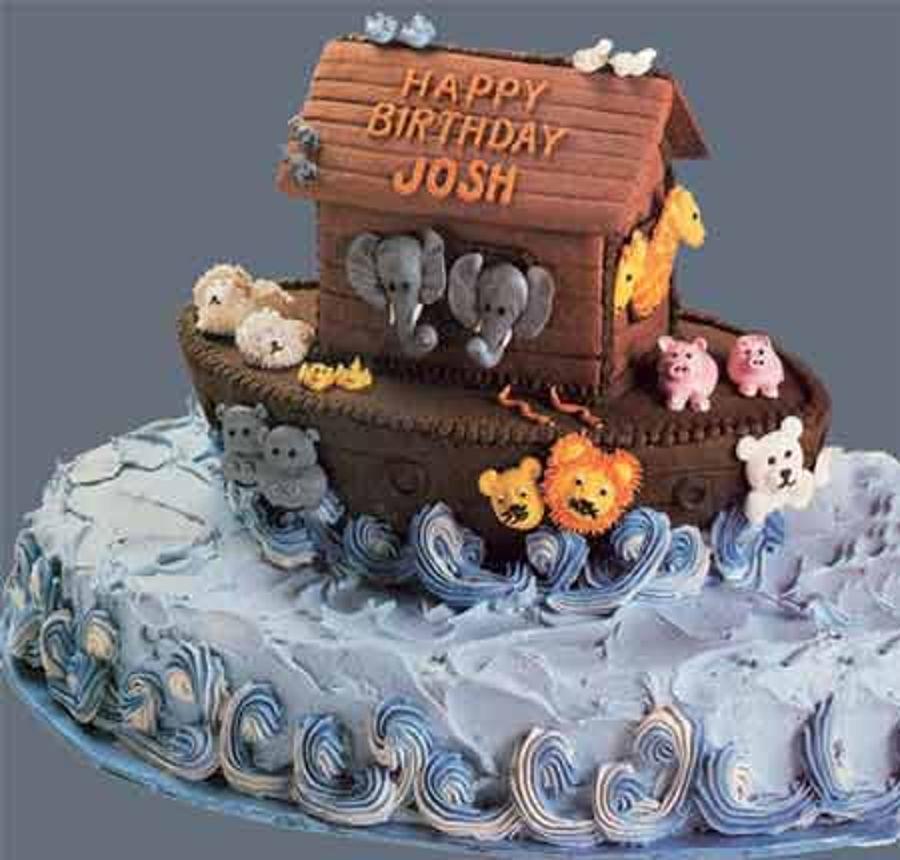 Noah S Ark Buttercream Baby Shower Cake Cakecentral Com