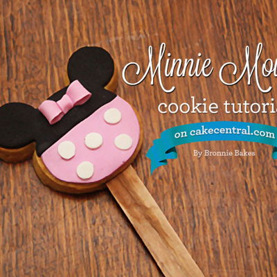 Minnie Mouse Cookie Tutorial on Cake Central