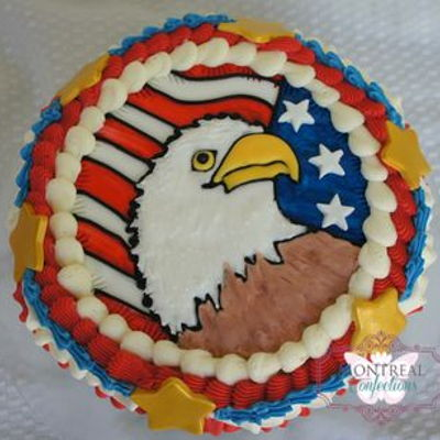 Patriotic Eagle Cake on Cake Central