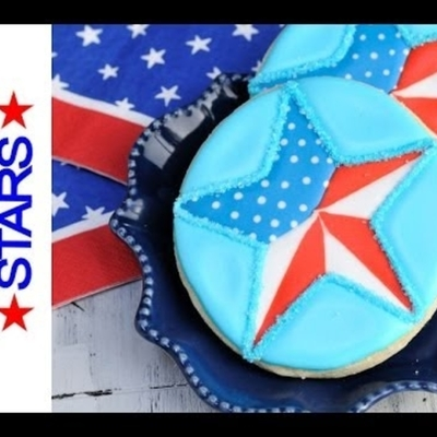 Memorial Day Patriotic Star Cookies on Cake Central