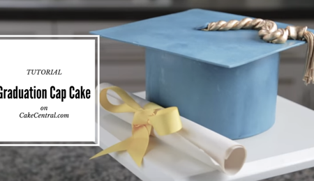 Graduation Cap Cake Tutorial
