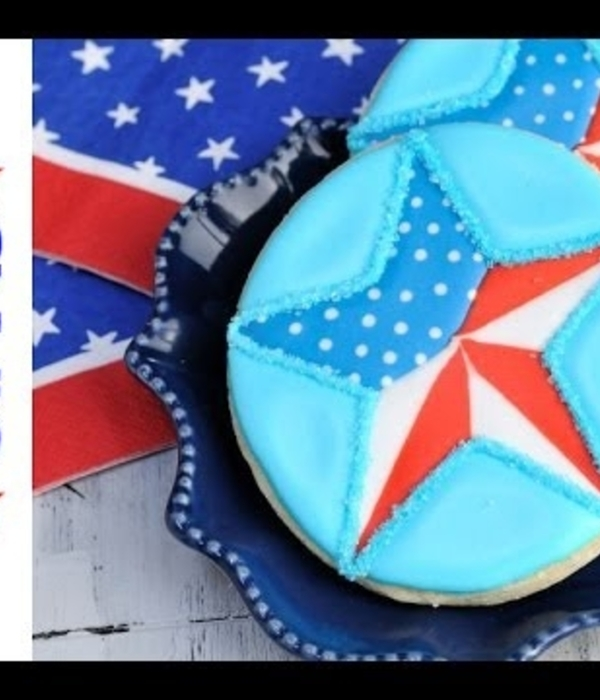Memorial Day Patriotic Star Cookies