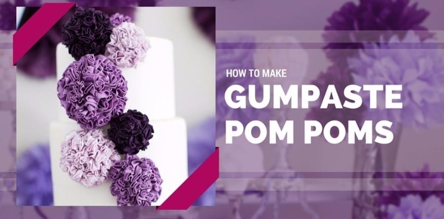 how to make sugar pom poms. Black Bedroom Furniture Sets. Home Design Ideas