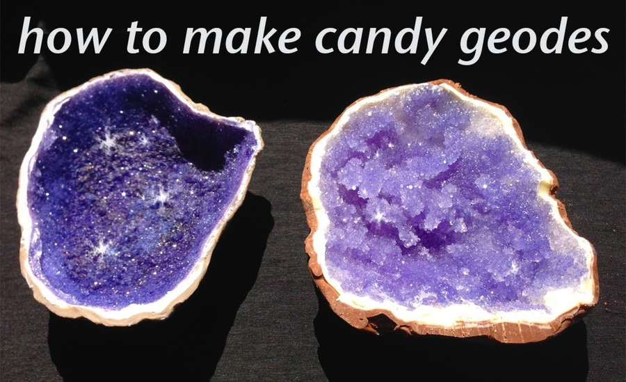Edible Cake Images How To Make : Edible Geode Crystal (Rock Candy / Sugar) Cake Tutorial ...