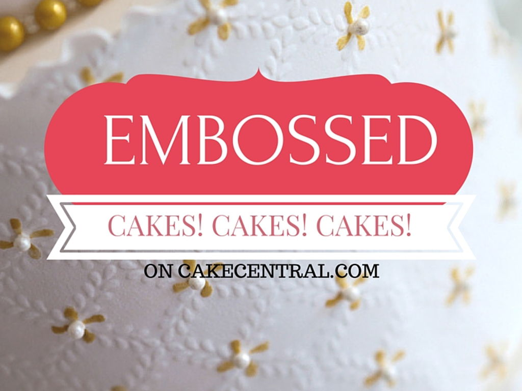 Beautiful Embossed Wedding Cakes - CakeCentral.com