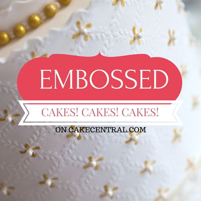 Beautiful Embossed Wedding Cakes on Cake Central