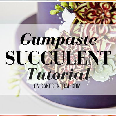 Gumpaste Succulent Tutorial on Cake Central