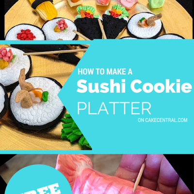 Sushi Cookie Platter on Cake Central
