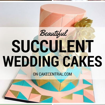 Top Succulent Wedding Cakes on Cake Central
