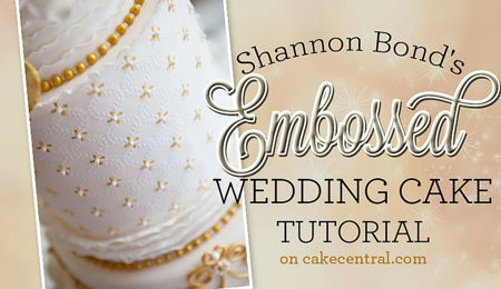 Shannon Bond's Embossed Wedding Cake Tutorial