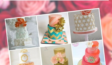 Top Coral & Pink Wedding Cakes