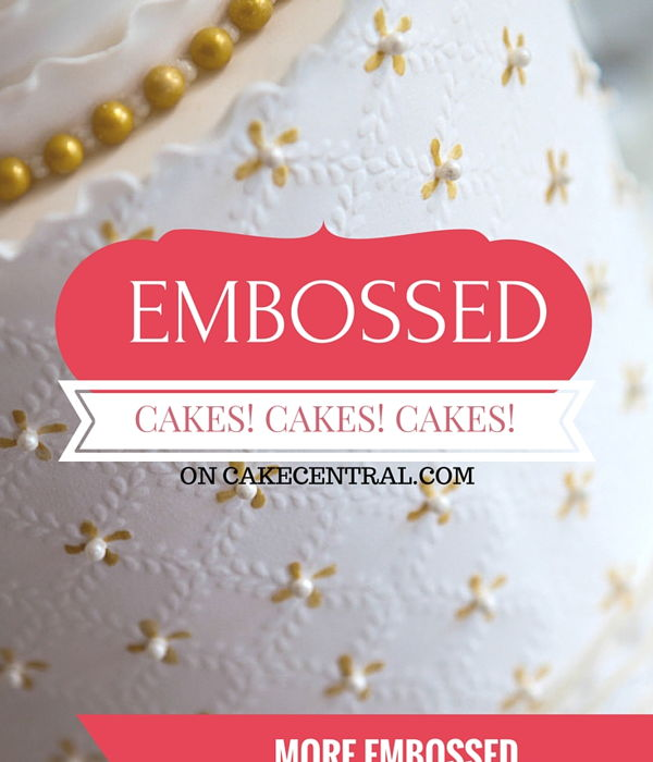 Beautiful Embossed Wedding Cakes