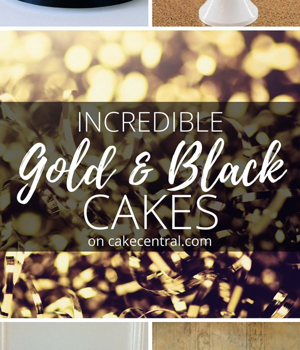 Unconventionally Beautiful - Black and Gold Wedding Cakes