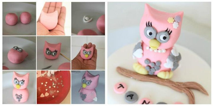how to make an owl cake with fondant