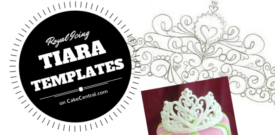 15 royal icing tiara patterns fit for a princess cakecentral com