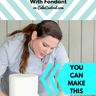 How To Cover A Double-Barrel Cake With Fondant on Cake Central