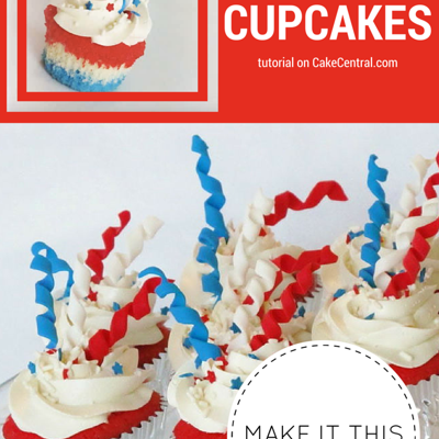 How to Make 4th of July Firework Cupcakes on Cake Central