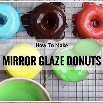 Mirror Glaze Olympic Rings Donuts on Cake Central