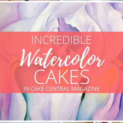 Water Color Wedding Cakes in Cake Central Magazine on Cake Central