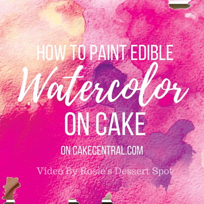 Watercolour Cake Tutorial on Cake Central