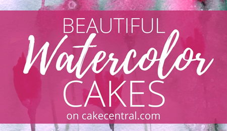 Beautiful Watercolor Cakes