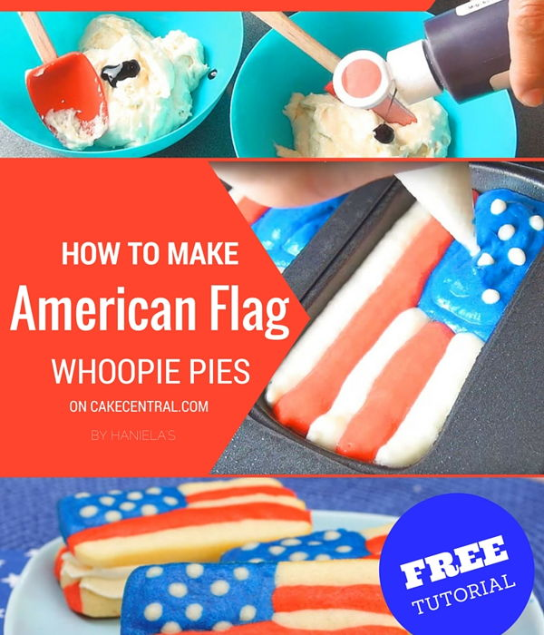 4th Of July American Flag Whoopie Pie