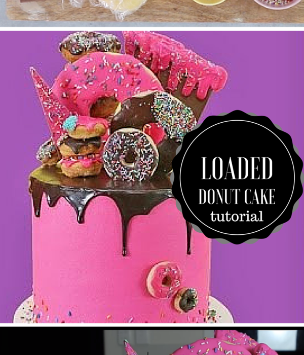 Loaded Donut Drip Cake