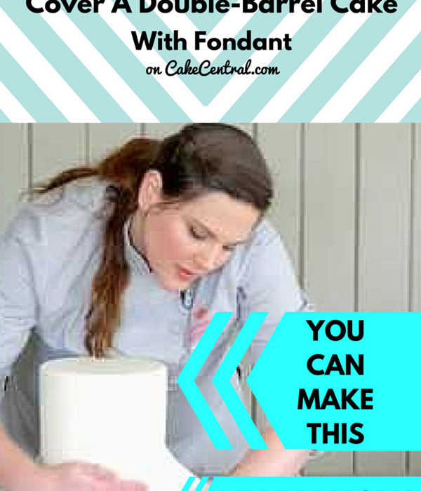 How To Cover A Double-Barrel Cake With Fondant