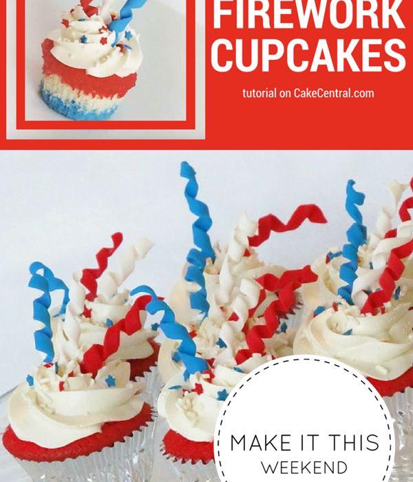 How to Make 4th of July Firework Cupcakes