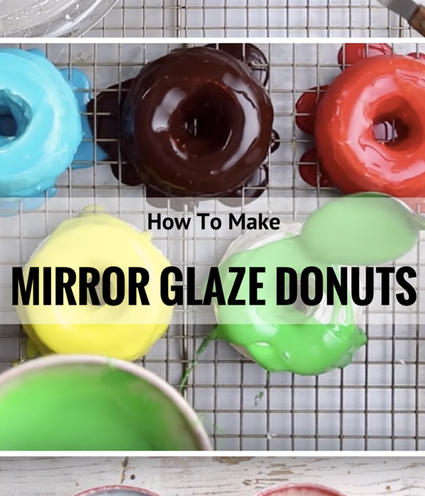 Mirror Glaze Olympic Rings Donuts