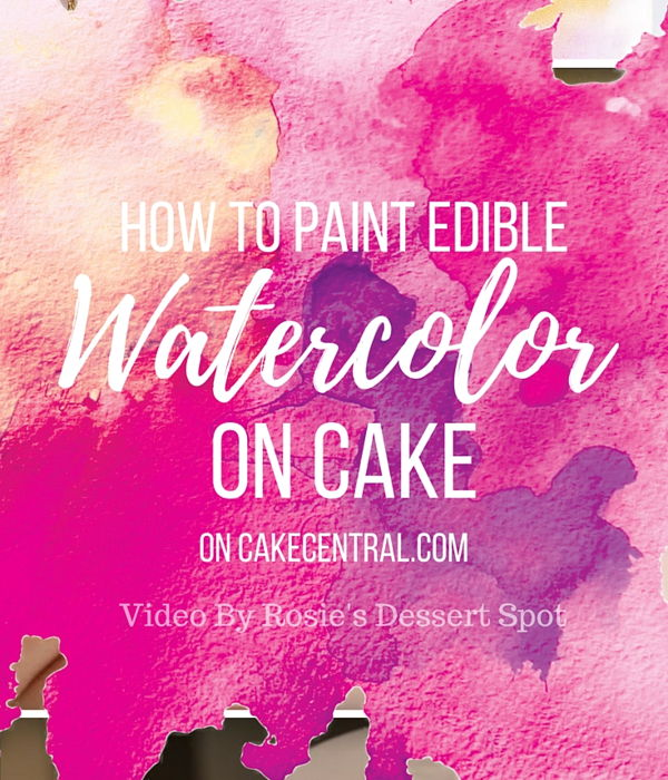 Watercolour Cake Tutorial