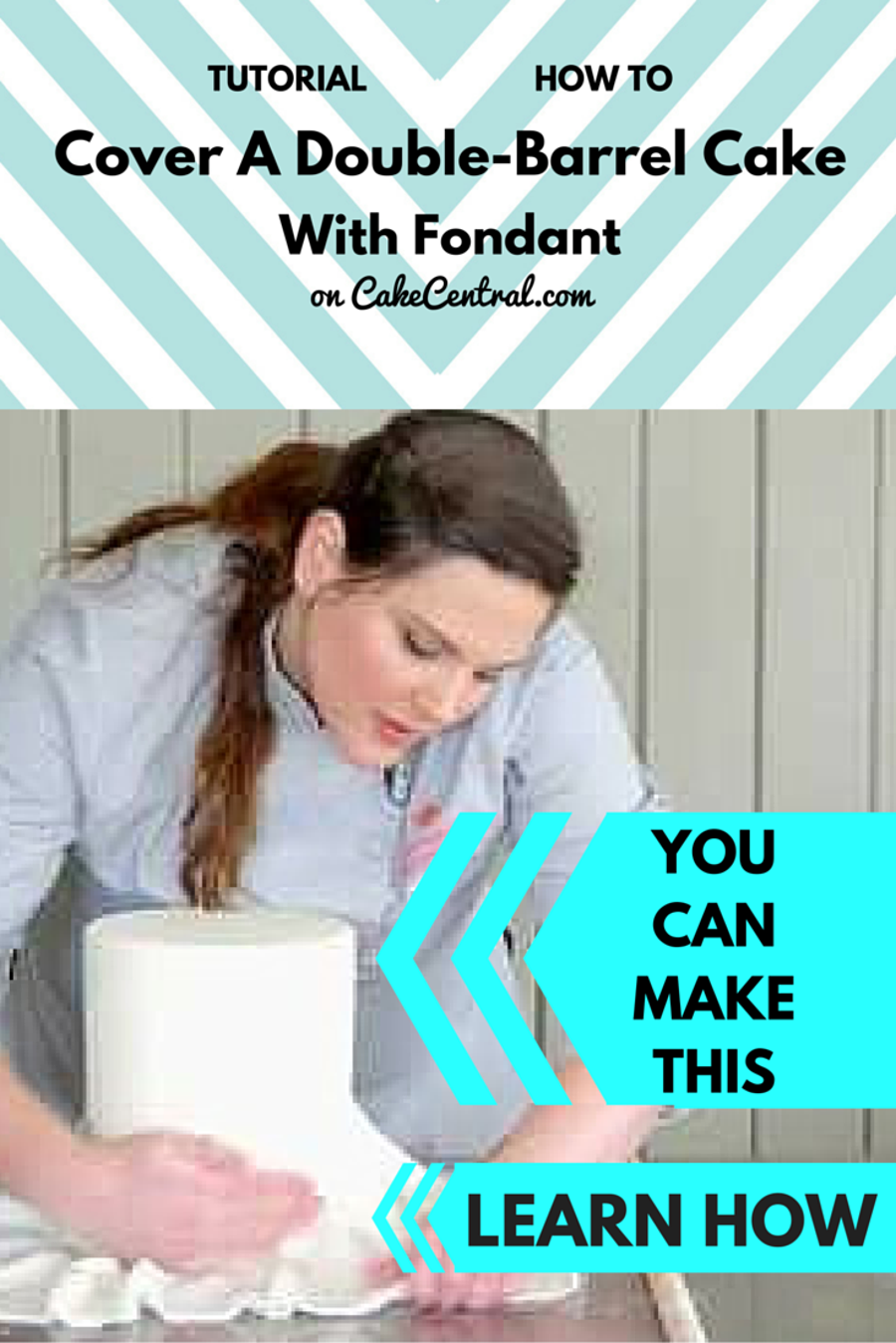 How To Cover A Double Barrel Cake With Fondant