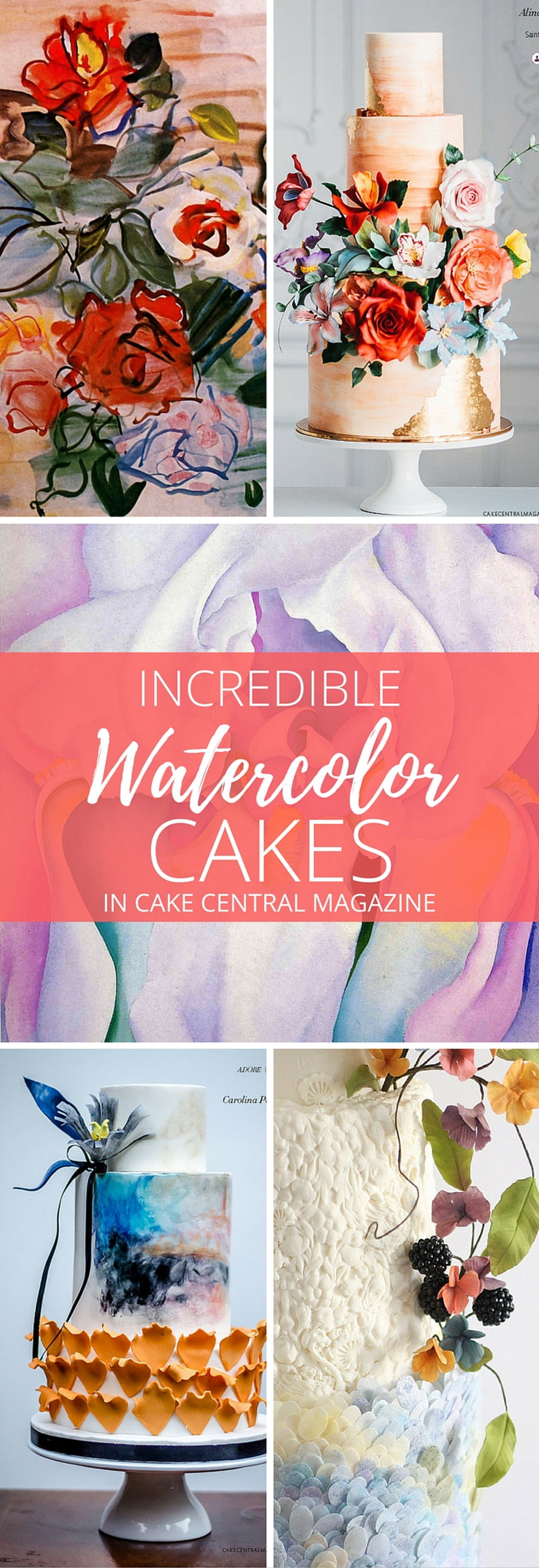 Water Color Wedding Cakes In Cake Central Magazine