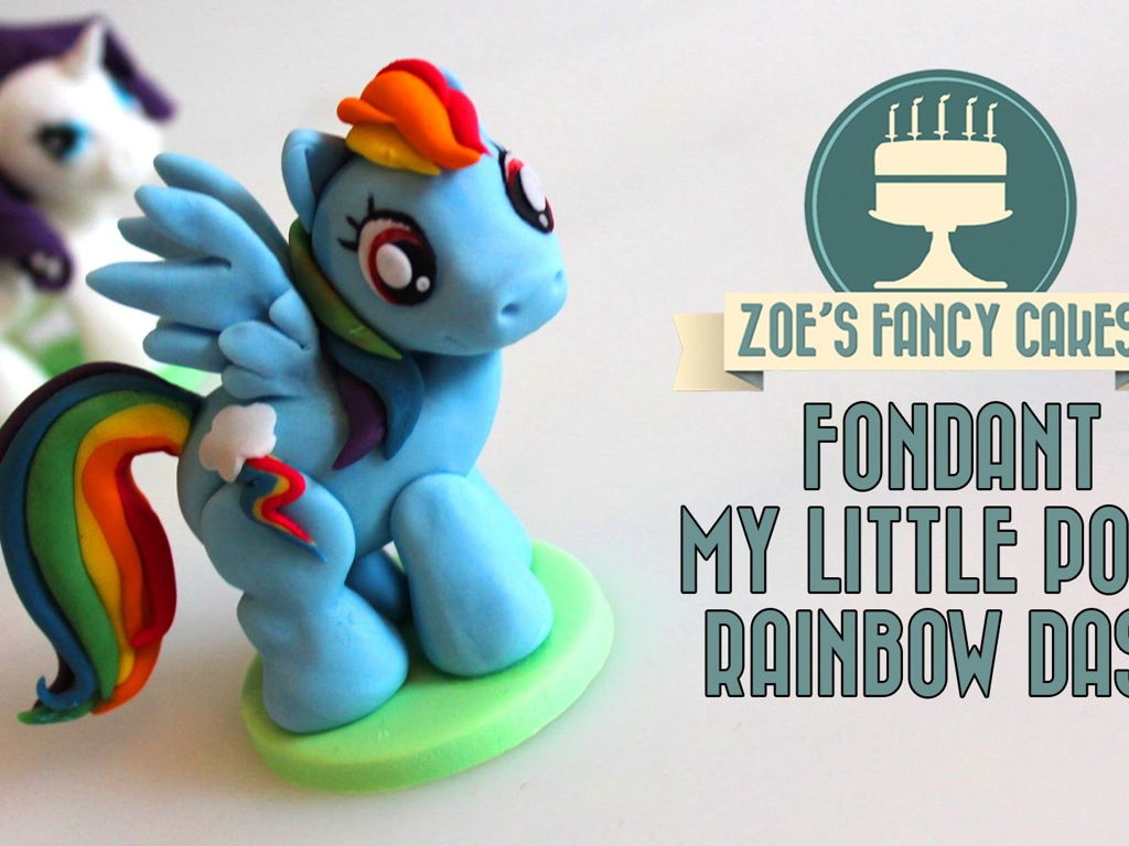 my little pony cake topper fondant rainbow dash cakecentral com