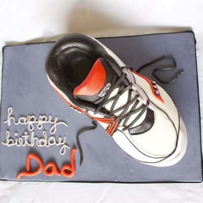 3D Running Shoe Cake Tutorial on Cake Central