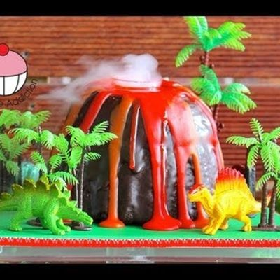 How To Make A Smoking Volcano Cake on Cake Central