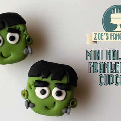 Mini Halloween Frankenstein cupcakes on Cake Central
