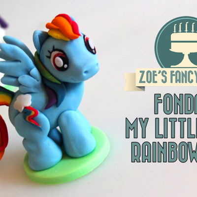 My Little Pony Cake Topper (Fondant Rainbow Dash) on Cake Central
