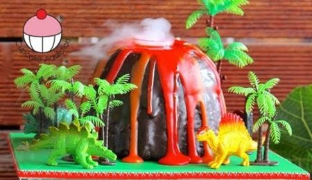 How To Make A Smoking Volcano Cake
