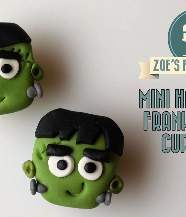 Mini Halloween Frankenstein cupcakes