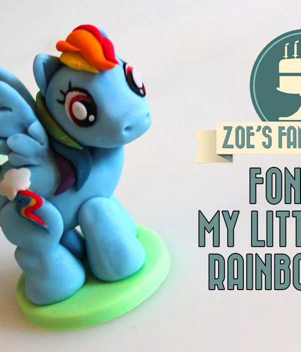 My Little Pony Cake Topper (Fondant Rainbow Dash)