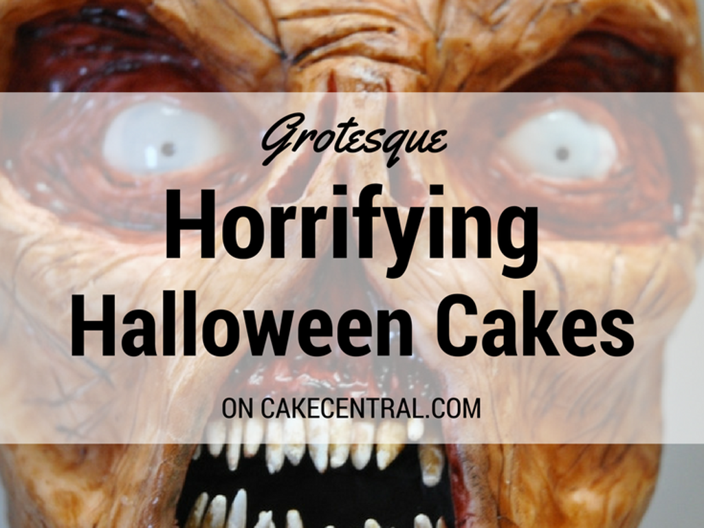 Seriously Spooky Halloween Cakes CakeCentralcom